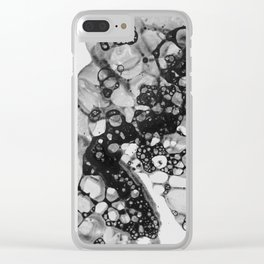 Black Suds Clear iPhone Case