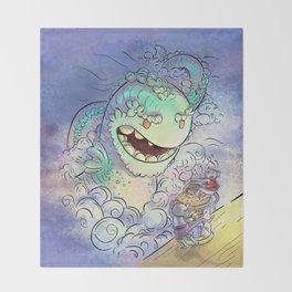 Sea Serpent Throw Blanket