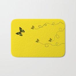Butterflies on yellow Bath Mat