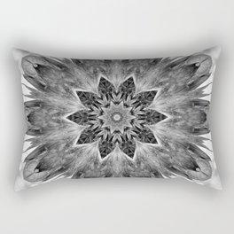 Beautiful Black White Flower Abstract Rectangular Pillow
