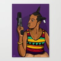 mcfreshcreates Canvas Prints featuring Loc'd Out by McfreshCreates