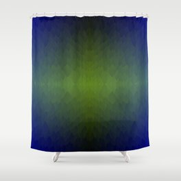 Black Blue Green Ombre Flames Horizon Shower Curtain