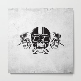 Skull Brothers Inside Metal Print