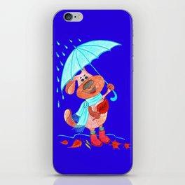 Dog Zahar and Autumn iPhone Skin