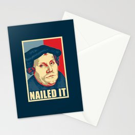 Martin Luther Nailed It Stationery Cards