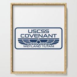 USCSS Covenant - Weyland Yutani - with border Serving Tray