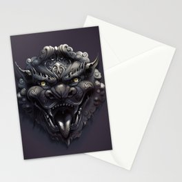 Foo Lion Dog Mask Stationery Cards