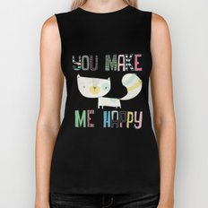 make me happy Biker Tank
