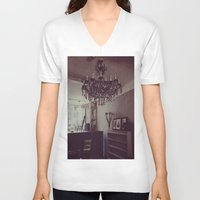antique V-neck T-shirts featuring Antique by Jane Lacey Smith