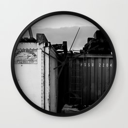 Padstow Containers Wall Clock
