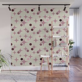 Retro Pattern Rose Wall Mural