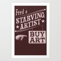 Feed an Artist Art Print