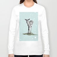 bambi Long Sleeve T-shirts featuring Bambi by Monika Strigel