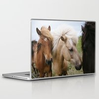 iceland Laptop & iPad Skins featuring Iceland Horses by LUKE/MALLORY