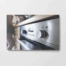 Oven temperature button Metal Print