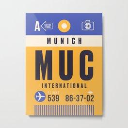 Luggage Tag B - MUC Munich Germany Metal Print