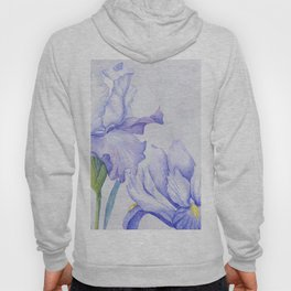 Watercolor Iris Hoody