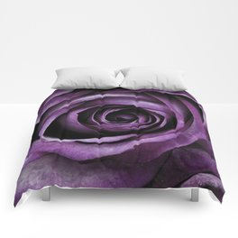 Purple Rose Decorative Flower Comforters
