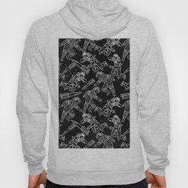 Space Travellers-Fun Doodles - Mix and Match with Simplicity of Life Hoody