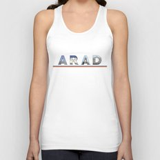 arad city text Unisex Tank Top