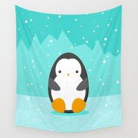 penguin Wall Tapestries featuring Penguin by eDrawings38
