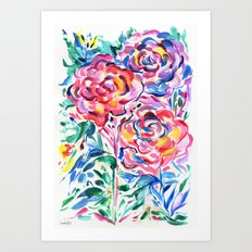 Abstract Roses 1 Art Print