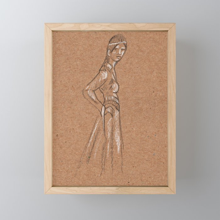 Girl from another time Framed Mini Art Print