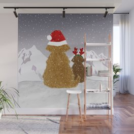 Cute Dogs Holiday Design Wall Mural