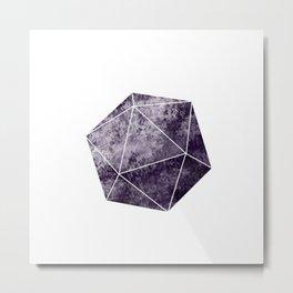 Purple d20 Dice Metal Print