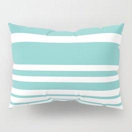 Scandi Pastel Mint Stripes Pillow Sham