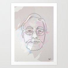 One Line Miyazaki Art Print