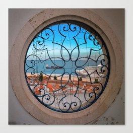 Lisbonne vue d'en haut Canvas Print