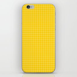 Yellow Grid White Line iPhone Skin