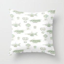 Airship Pattern Throw Pillow