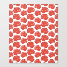 Block Cut Retro NZ Fantail Pattern Canvas Print