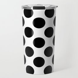 black round on a white background pattern Travel Mug