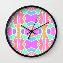 SWEET RETRO GEOMETRY Wall Clock