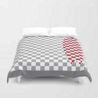 surfboard Duvet Covers featuring Checkered Fish Surfboard by Arlo @ Creative Konzepts