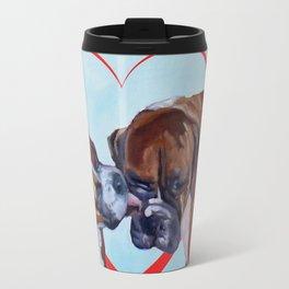 Be My Valentine Kissing Boxers Travel Mug