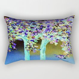 In a Blue and Purple World Rectangular Pillow