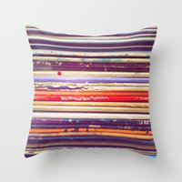 records Throw Pillows featuring Grandpa's Records by Amy Hamilton