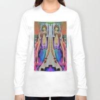 gemini Long Sleeve T-shirts featuring Gemini by Deb MacNeil