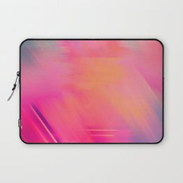 Modern abstract fuchsia violet coral brushstrokes Laptop Sleeve