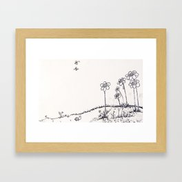 Beefield wanderer Framed Art Print