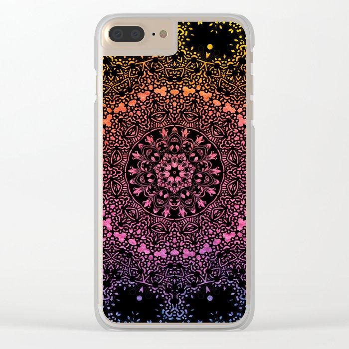 Harlequin Fantasy Mandala Clear iPhone Case
