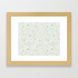 Green Natures Gold Marble Framed Art Print