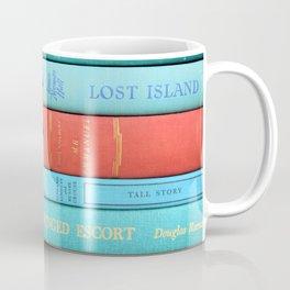 Pink and Aqua Book Stack Coffee Mug