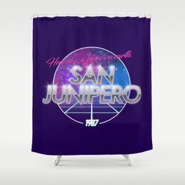 San Junipero - Black Mirror Shower Curtain