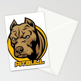 Pitbull Face Cool Pitties Pet Owners Doggie Dog Lovers Veterinarian Gift Stationery Cards