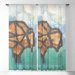 Roaming Around Sheer Curtain